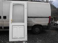 PVC White Double Glazed Back Door for Sale