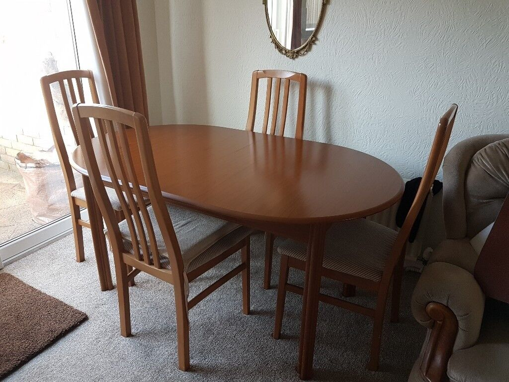Pine Dining Table And 4 Chairs For Sale