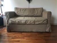 IKEA Hagalund 2 Seater Sofa Bed in 'Ramna beige'