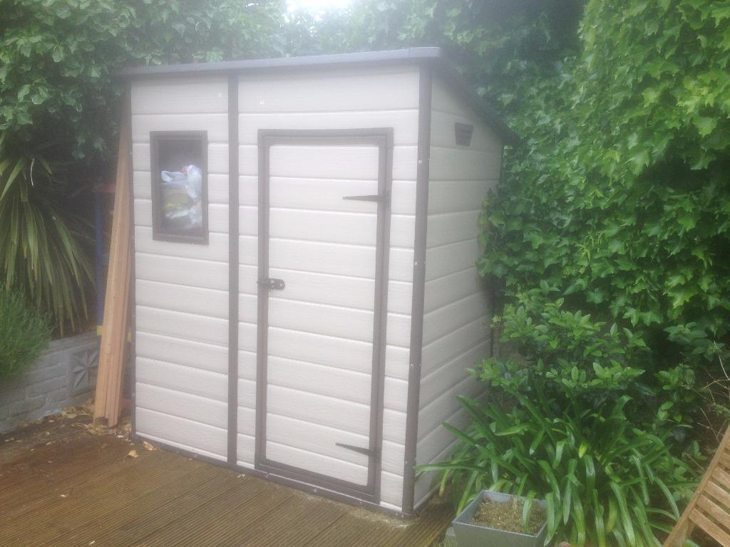Plastic Keter Pent Roof Shed 6 X 4 Only 4 Months Old With