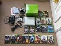Boxed Xbox 360 Console, HDD, 2 Controllers (1x Wireless), 18 Games,