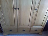 Solid Wood Oak Wardrobe