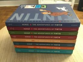 The adventures of Tin Tin Hardback books volume 1 to 8