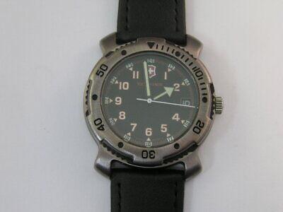 Victorinox Swiss Army Watch w/ Date Fancy Case Rotating Bezel