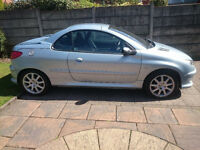 2003 Peugeot 206 1600cc engine, electric roof, 16v Coupe Cabriolet SE. years mot.
