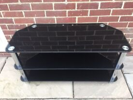 Black Glass 3 Tier TV stand/table