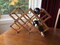 Oak wood vintage wine rack