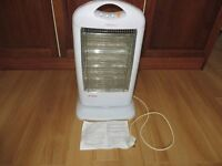 Electric Halogen Heater. White.