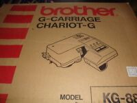 Brother 881 knitting machine and garter carriage