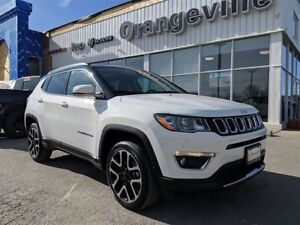 2017 Jeep Compass LIMITED, 4X4, NAV, ROOF, 19 INCH WHLS, RMTE ST