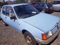 1986 ..peugeot 205 1.8 deisel..classic car...