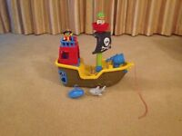 Mega Bloks Pull Along Musical Pirate Ship