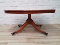 Yew Wood Coffee Table (DELIVERY AVAILABLE FOR THIS ITEM OF FURNITURE)