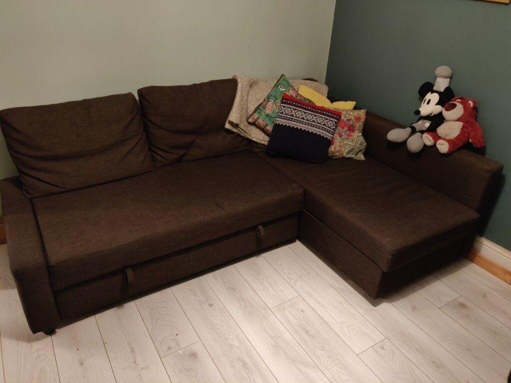Corner Sofa Bed With Storage Ikea Brown In Stratford London Gumtree