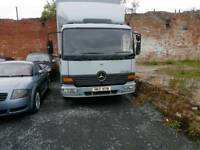 Mercedes man atego truck box lorry iveco daf