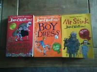 David Walliams paperback books, childrens books.