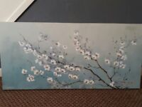 8 large wall pictures/canvases very pretty and in excellent condition