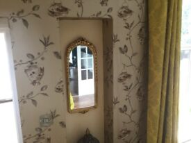 Beautiful arched mirror perfect for wedding bridal suite or bedroom