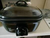 8 in 1 cooker slow cooker grill fryer