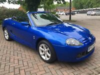 MG TF 1.8 Convertible Low Mileage 2003 in Striking Blue