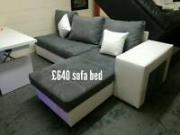 Sofa bed grey/white