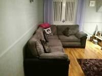 Corner sofa and large two seater sofa