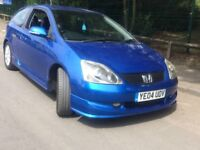 Honda civic sport 1.6 petrol 2004 sport hatchback 3door. Low mileage 89k