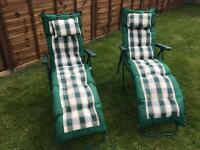 Sun loungers foldable (pair)