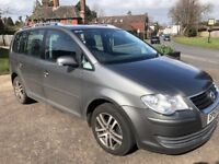 VW TOURAN DIESEL AUTO LONG MOT FULL SERVICE HISTORY 2 OWNERS CAMBELT DONE LAST YEAR SEVEN SEATS