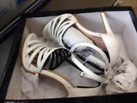 ladies sandal heels size 4 brand new in box