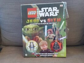 Lego Star Wars book with exclusive figures