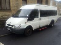 2006 06 ford transit 17 seater minibus psv tested taco fitted long mot good runner bargain £1999