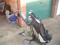 Wilson clubs, bag Trolley and Various
