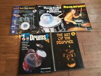 Wokingham Drum Sales - 6 x Drum Tuition Books, 4 With CD, Bargain Bundle Price - Great for Students