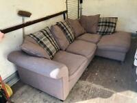 DFS Corner sofa Brown Fabric