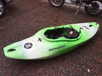 perception blaze lime green kayak great condition with spraydeck