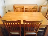 Fish Pools Solid Oak Extendable Table And Six Chairs With Three Door Unit