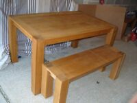 Kitchen/dining table with 2 bench seats
