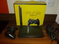 Playstation 2 slim, boxed with controller, memory card