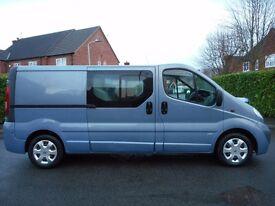NO VAT!! Vauxhall Vivaro Sportive 2.0 CDTi (115bhp) LWB 6 Seat Crew Van. FULL HISTORY!