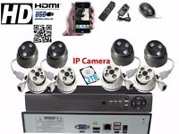 8 Full HD IP CCTV Cameras Package Clear Image Night Vision +2TB HDD