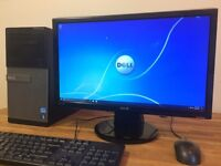 "Gaming PC DELL Windows 10 - i5 3.30Ghz - 8GB Ram - GeForce + 22"" FULL HD Monitor Desktop Computer PC"