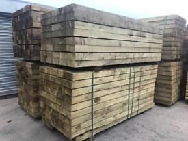 🃏£15 New Tanalised Wooden Railway Sleepers