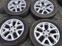 Nissan Xtrail Qashqai Juke 18 inch Alloy Wheels Alloys with Winter Snow Tyres
