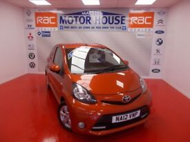 Toyota Aygo VVT-I FIRE (£0.00 ROAD TAX) FREE MOT'S AS LONG AS YOU OWN THE CAR!!! (orange) 2012