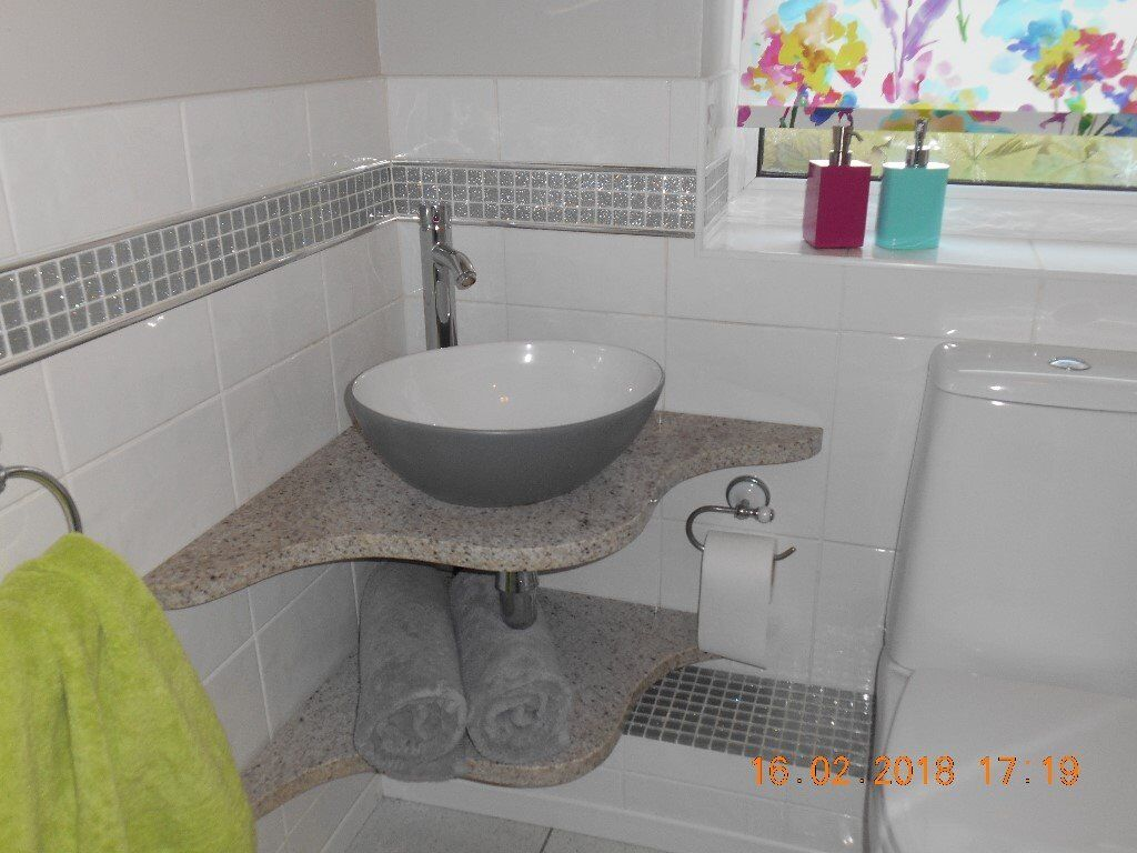 Superb Ganite Corner Shelves With Counter Top Basin And Close Coupled Toilet In Northwich Cheshire Gumtree Interior Design Ideas Clesiryabchikinfo