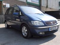 02' Vauxhall Zafira 2.0 dti elegance 7 seater diesel long MOT touran galaxy alhambra sharan espace