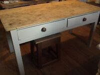 victorian antique pitch pine dining table painted farrow and ball