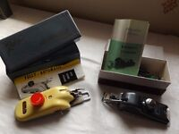 Sewing machine attachments - a button holer and a zigzagger, 1960s models