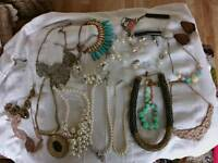 Lovely collection of costume jewellery necklaces..
